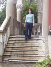 Ana Henríquez Orrego en el Castillo del Instituto de Historia de la PUCV