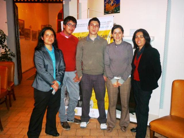 Con mis ayudantes de Universidad del Pacífico y Carolina Miranda