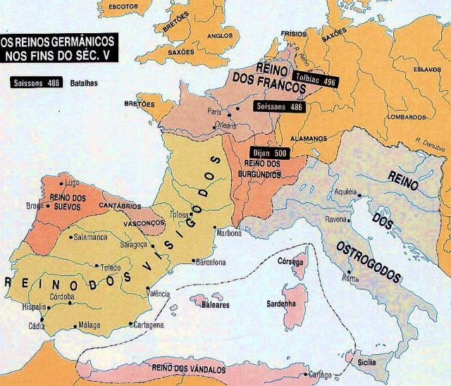 REINOS GERMANOS, INSTALADOS EN EUROPA DESPUES DEL SIGLO V