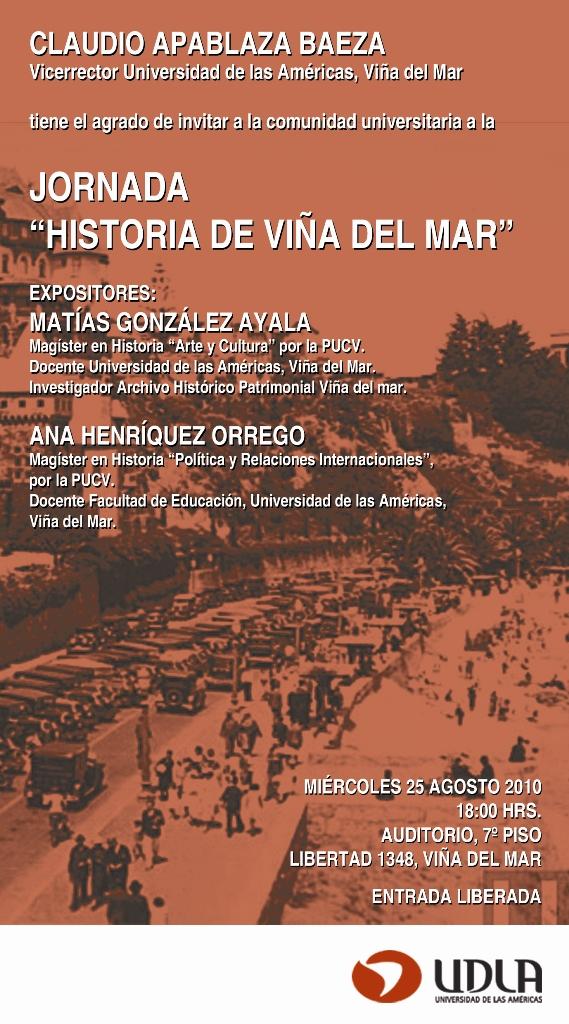 Ponencia Historia de Viña del Mar, agosto 2010