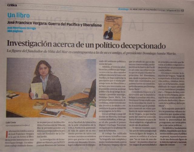 Reportaje EL MERCURIO DE VALPARAISO, ANA HENRIQUEZ ORREGO