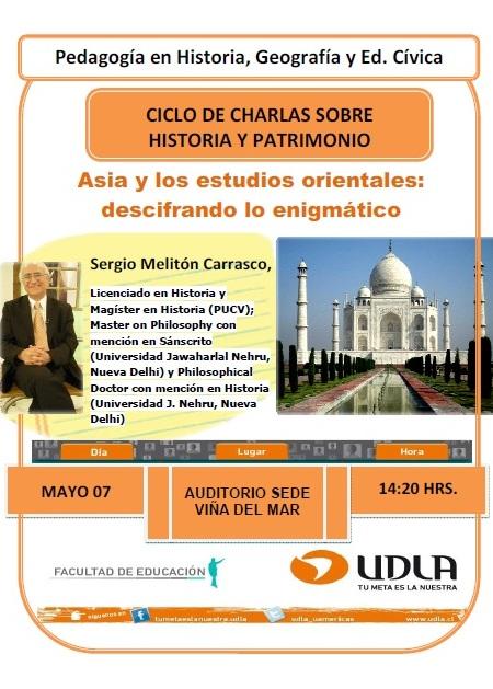CHARLA HISTORIA Y PATRIMONIO ORIENTAL, EN VIÑA 7 DE MAYO
