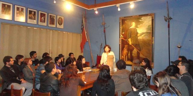 Salida a terreno, Museo Histórico Nacional de Chile...., abril 2012