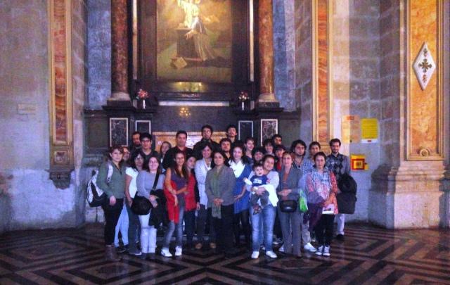 Visita patrimonial Catedral de Santiago de Chile. 2012