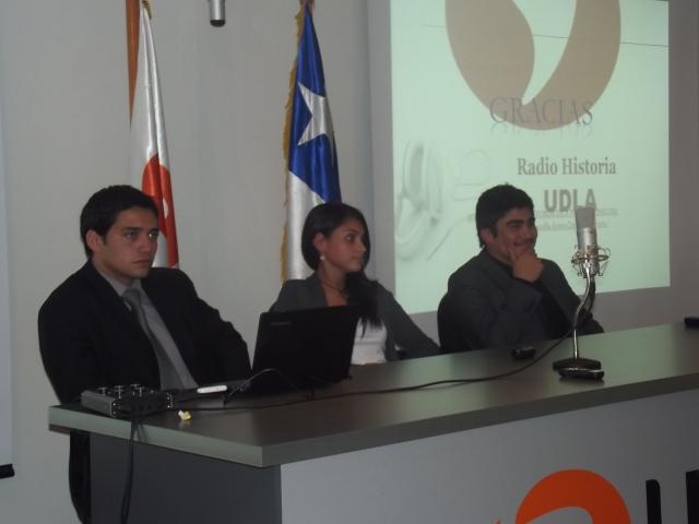 I. Yañez, V. Ardiles y D. Carreño - RadioHistoriaUdla