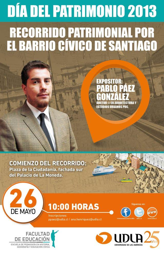 Afiche dia del patrimonio, 2013