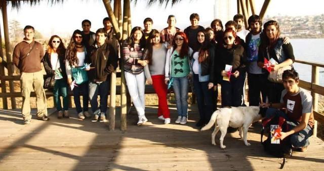 Estudiantes de Historia, Geografía y Educación Cívica.