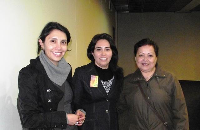 Carolina Miranda, organizadora de las VII Jornadas junto a Lorena Villegas y Juana Pérez.