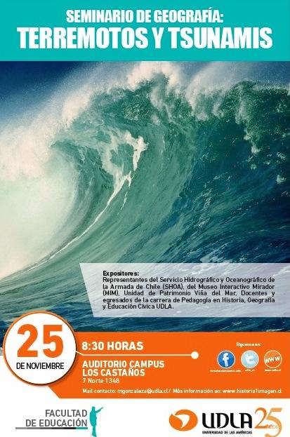 afiche terremotos y tsunamis