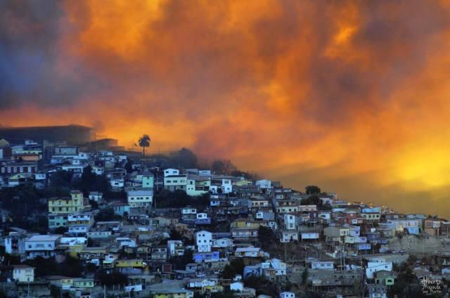 Valparaíso en llamas, abril 2014