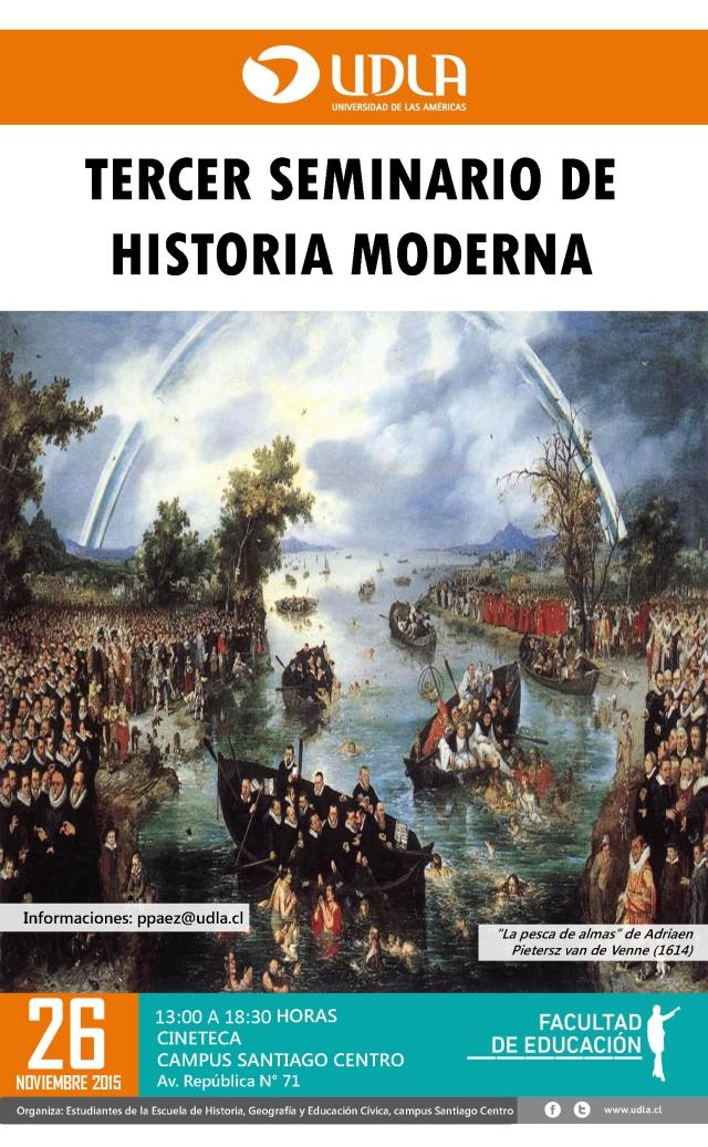 Afiche 3 Jornada Historia Moderna SC 2015 V2